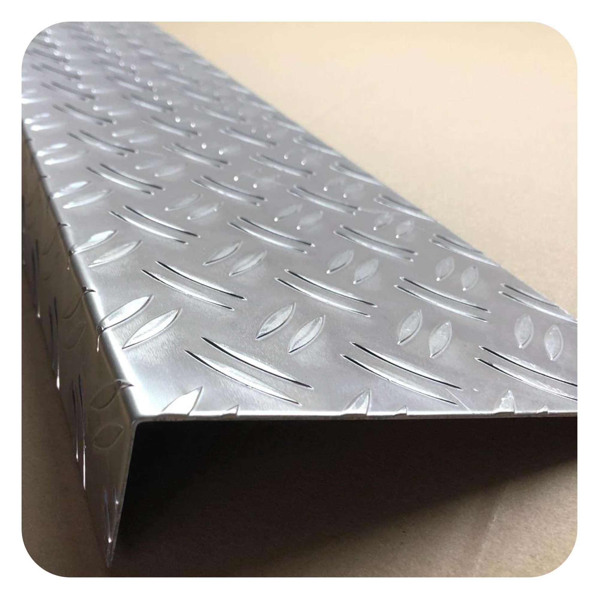 25x1000 Aluminium Riffelblech Duett-Warzenblech 1,5//2 L/änge 1000mm
